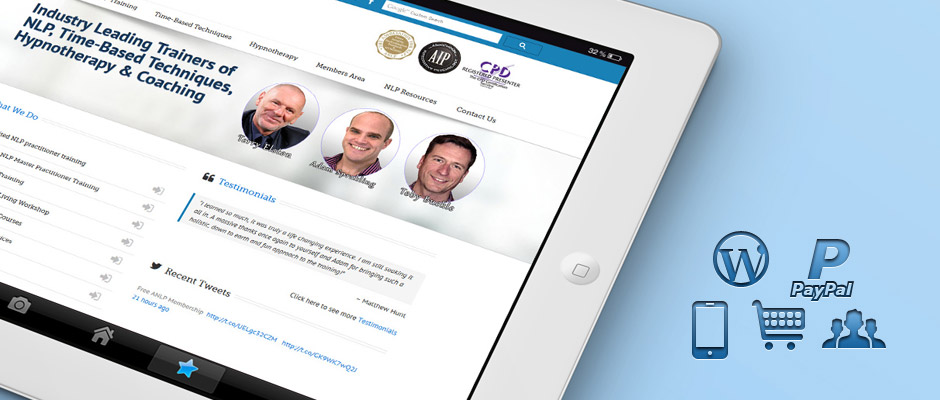 NLP World WordPress Mobile Website on iPad | Knowledge Constructs